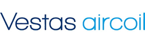 Tagarno user Vestas aircoil with their blue logo
